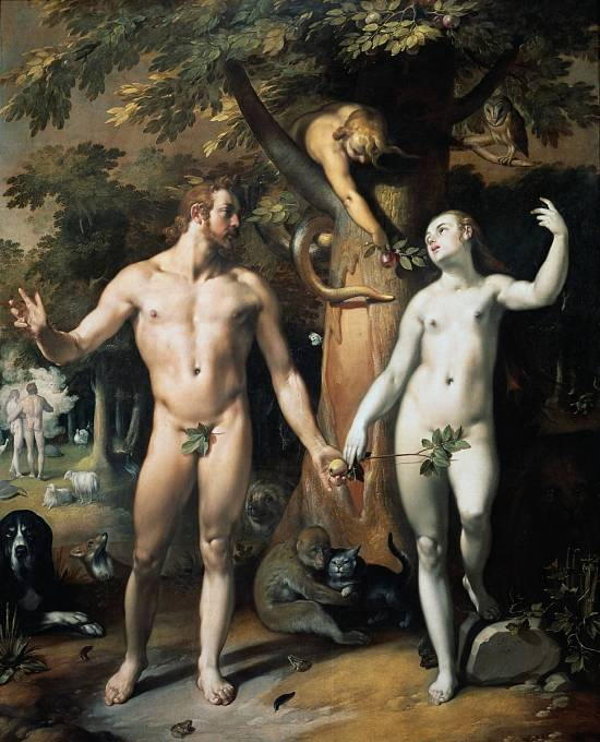Adam a Eva ochutnali zakázané ovoce a pykali. Navedla je prý Lilith v podobě hada.