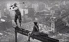 1932 - Golf při stavbě mrakodrapu.
