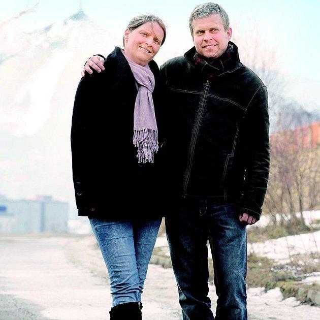 Nerozlučná dvojka Petr s Danielou na zimní procházce