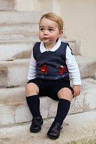 Malý George. Autorem snímku je Ed Lane Fox, osobní tajemník prince Williama a také fotograf na volné noze.