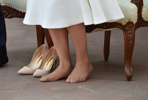 Nohy Kate Middletonové