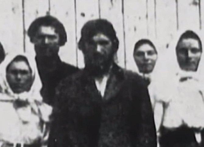 Rasputin s manželkou.