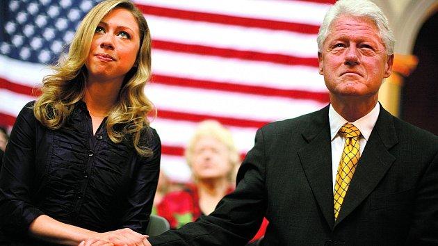 Chelsea a její otec Bill Clinton