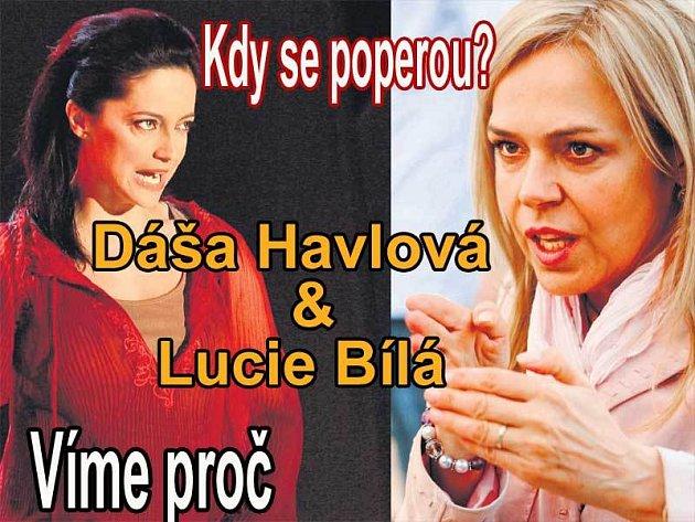 Lucie Bílá (vlevo) a Dagmar Havlová