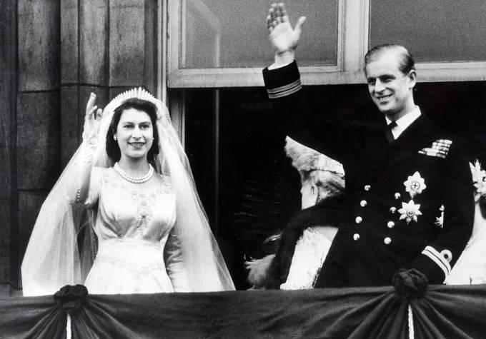 tehdy princezna Alžběta a princ Philip
