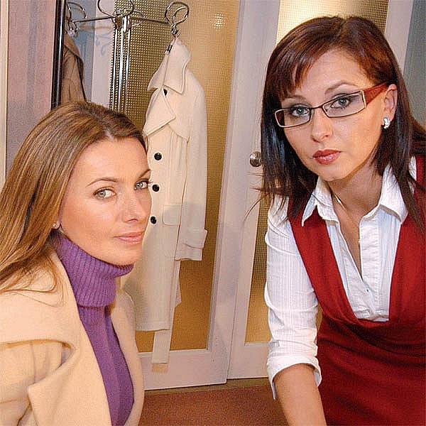 Alice Bendová (vlevo) a Dana Morávková