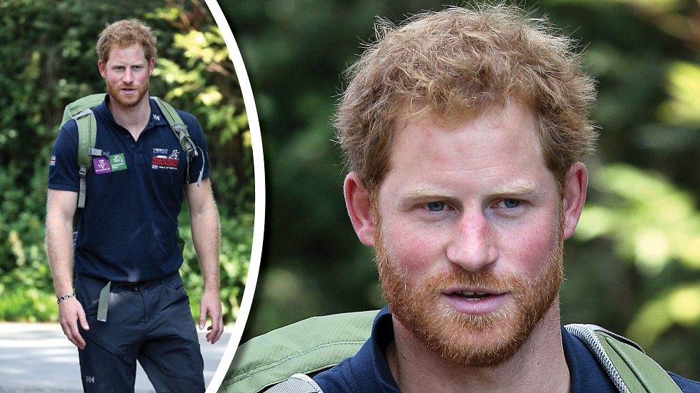 Princ Harry s vizáží dřevorubce