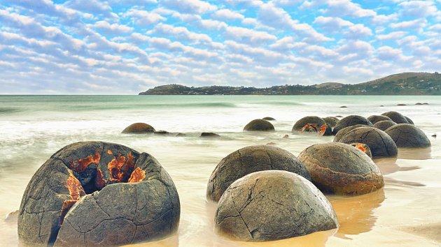 Pláž dračích vajec, Nový Zéland