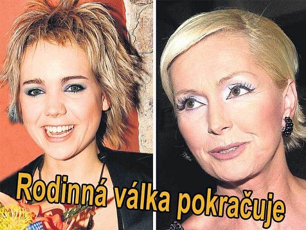 Lucie Vondráčková (vlevo), Helena Vondráčková