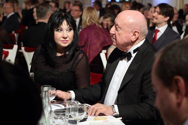 Dáda Patrasová a Felix Slováček na předávání cen Trebbia