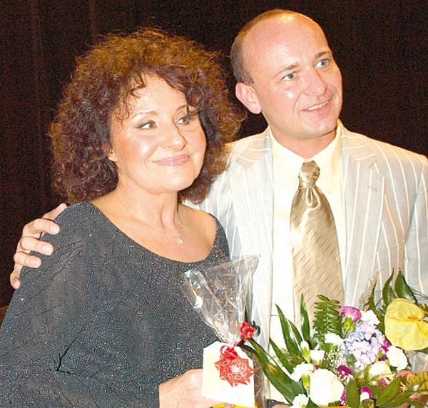 Jitka Zelenková si skvěle rozuměla sorganizátorem akce Davidem Novotným.