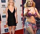 Britney a její postava, to je jedna dlouhá horská dráha. Hubne, tloustne, hubne, tloustne. Neví, co dřív.