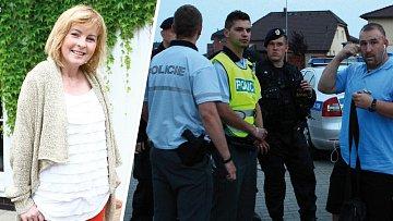 Policejní pátrání po Ivetě Bartošové v domě Zdeňka Macury.