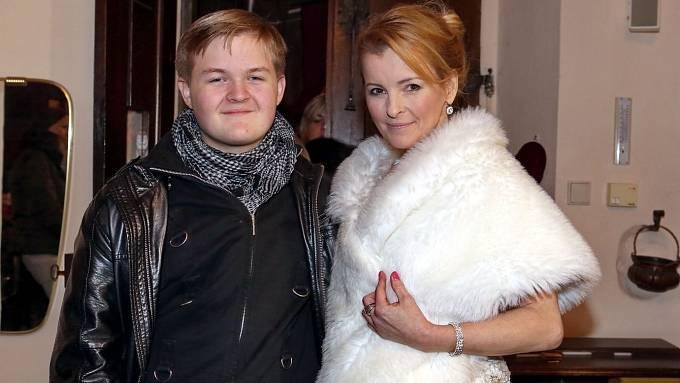 Artur Štaidl se zesnulou matkou Ivetou Bartošovou