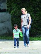 Lucie se synem Lucasem