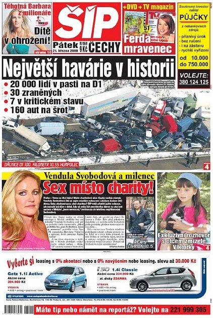 Titulka 21. 3. 2008