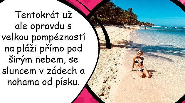 Petr Suchoň a Klára Koukalová a jejich tajná svatba na Mauriciu.
