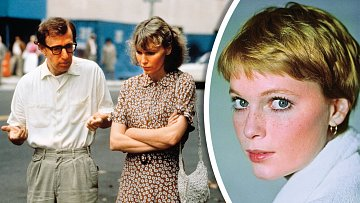 Mia Farrow s osudovým mužem Woody Allenem.