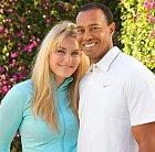 Lindsey Vonnová s Tigerem Woodsem