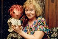 Moderátorka se svojí nejslavnější postavičkou, kterou milovalo mnoho dětí.