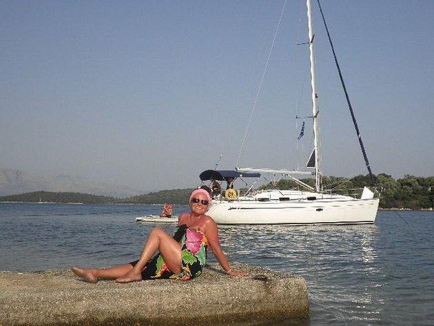 Jitka Zelenková na dovolené v Řecku