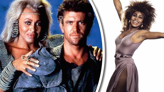 Tina Turner byla nejen zpěvačka, ale také herečka. Nejvýraznější role se dočkala v Šíleném Maxovi po boku Mela Gibsona.