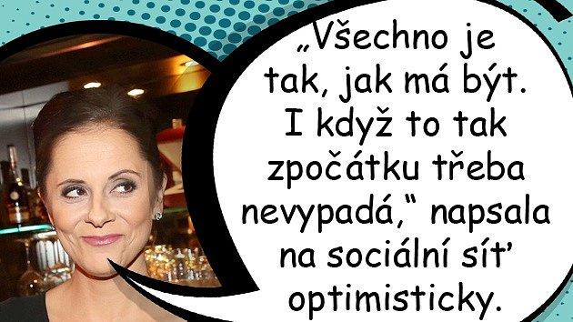 Vztah Laďky Něrgešové je vtroskách, ona už se ale zase usmívá.