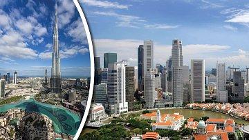 Vlevo Dubaj, vpravo Singapur. Není to krása?