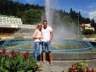 Pár si užil krásného prostředí v Luhačovicích.