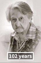 Anna V. dva roky po stovce.