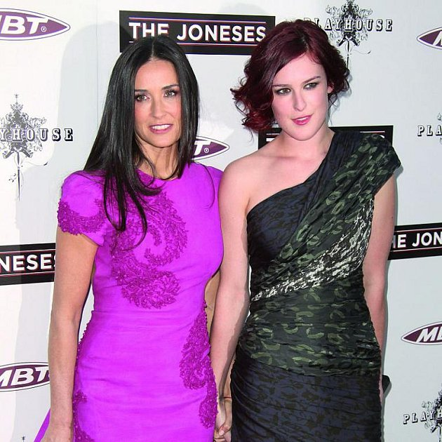 Demi Moore se svou dcerou Rummer,