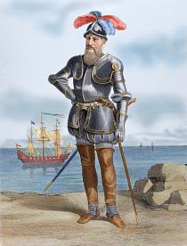 Slavný dobyvatel Francisco Pizarro.