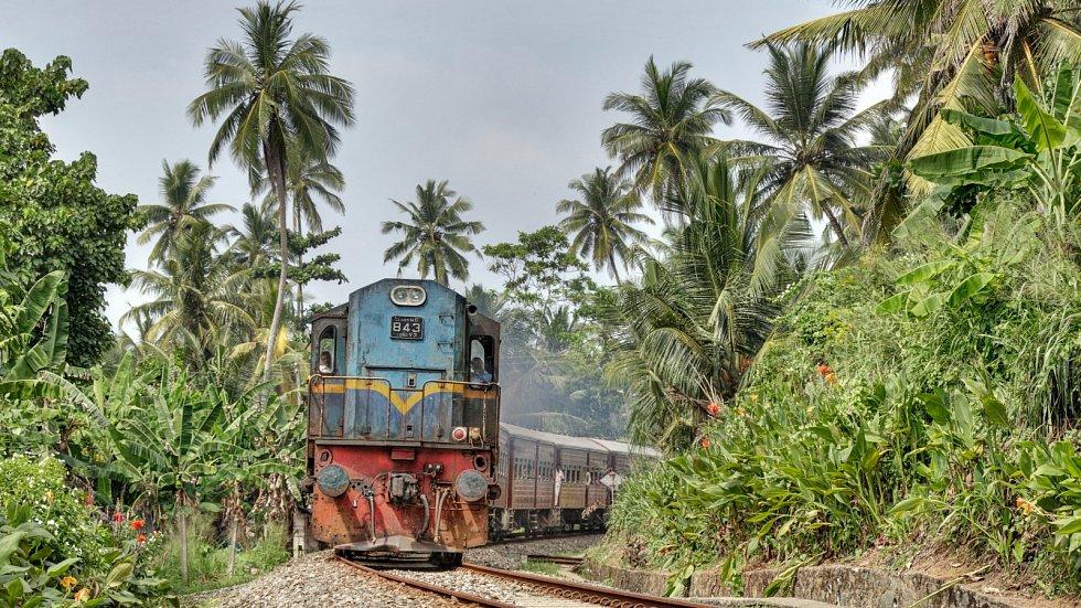 Bez cesty vlakem se na Srí Lance pravděpodobně neobejdete.