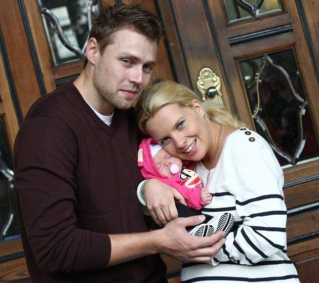 Manželem Kateřiny, se kterým má dceru Claudii, byl hokejista Martin Tůma.