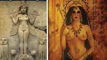 Různé podoby bohyně Ištar.