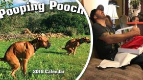 Pooping Pooches. Jediný kalendář, který je třeba mít!