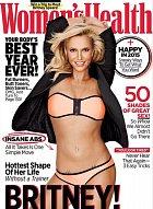 Britney Spearsová na titulce magazínu Woman's Health.