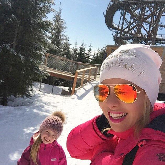 Kateřina Kristelová sdcerou na horách