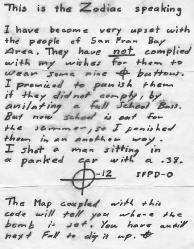 Příběh sériového vraha, který si říkal Zodiac a do dneška není známá jeho identita.