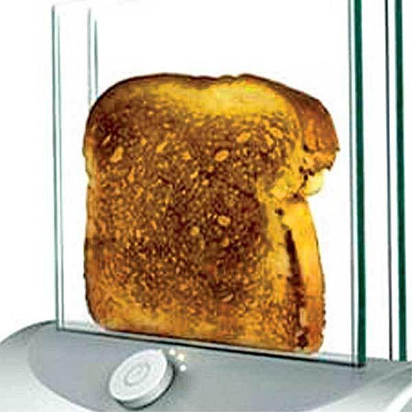 Průhledný toaster