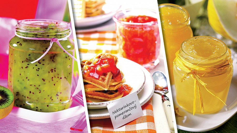 Banány skiwi, nektarinka spomerančem, ananasový scitronem