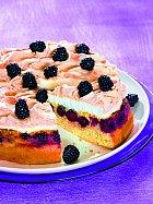 Kynutý ostružinový koláč