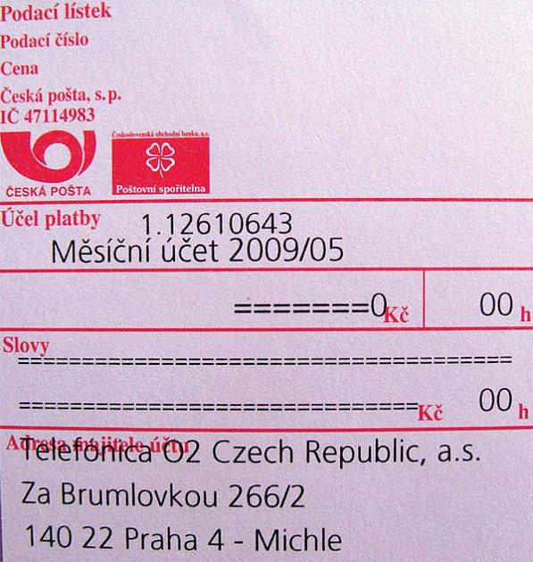 Nesmyslná poštovní poukázka