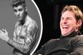 Justin Bieber a Tom Cruise