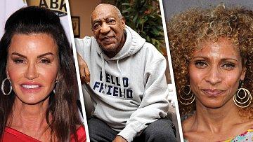 Bill Cosby a ženy, které prý znásilnil, Janice Dickinson (vlevo) a Michelle Hurd.