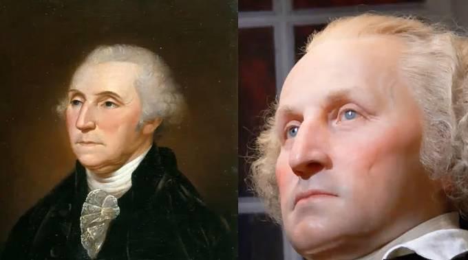 První americký prezident George Washington.