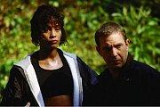 S Kevinem Costnerem ve filmu Osobní strážce. Hit roku 1992.