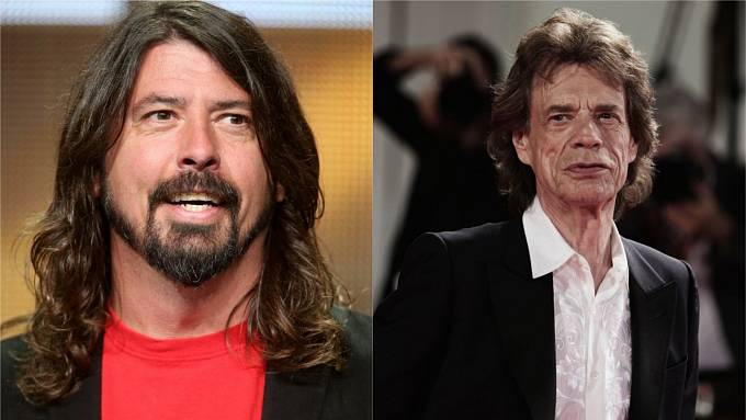 Dave Grohl, Mick Jagger