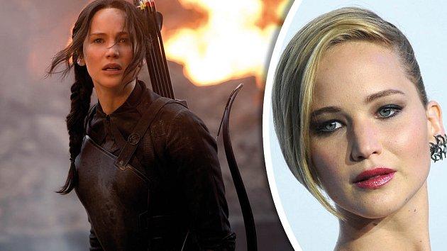 Talentovaná herečka Jennifer Lawrence jako Katniss Everdeen ztratila lesk.