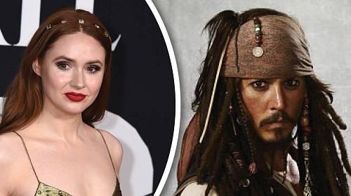 Johnny Depp a Karen Gillan.